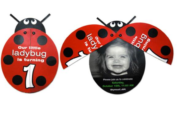 ladybug invitation design