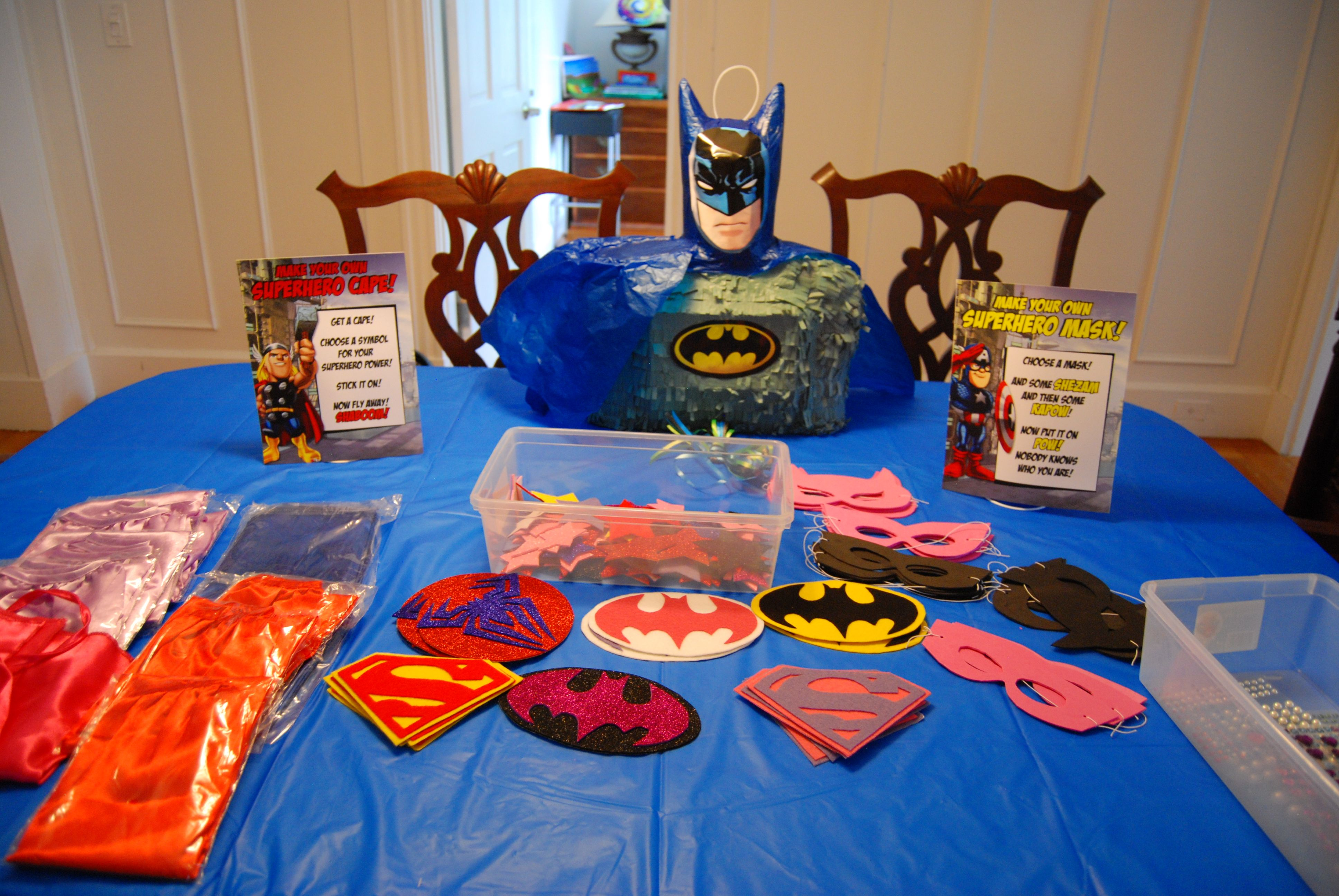 Superhero Capes and Masks Birthday Party