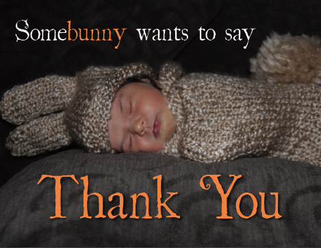 Somebunny wants to say thank you