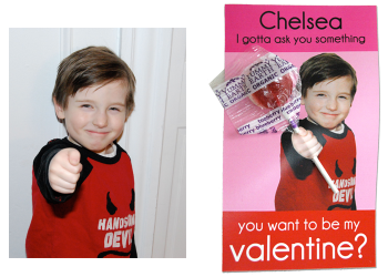 Simple idea for a valentine's day card