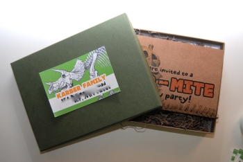 Dinosaur Box Invitation