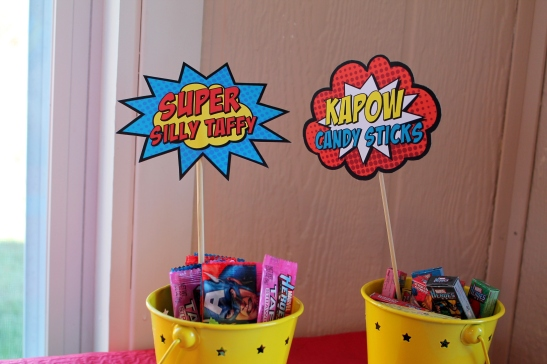 Every superhero loves candy!