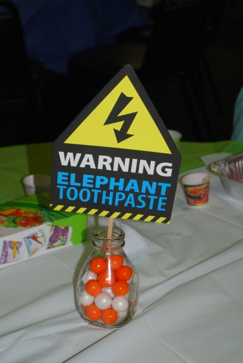 Elephant Toothpaste sign