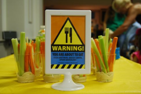 Warning Sign Mad Science Party